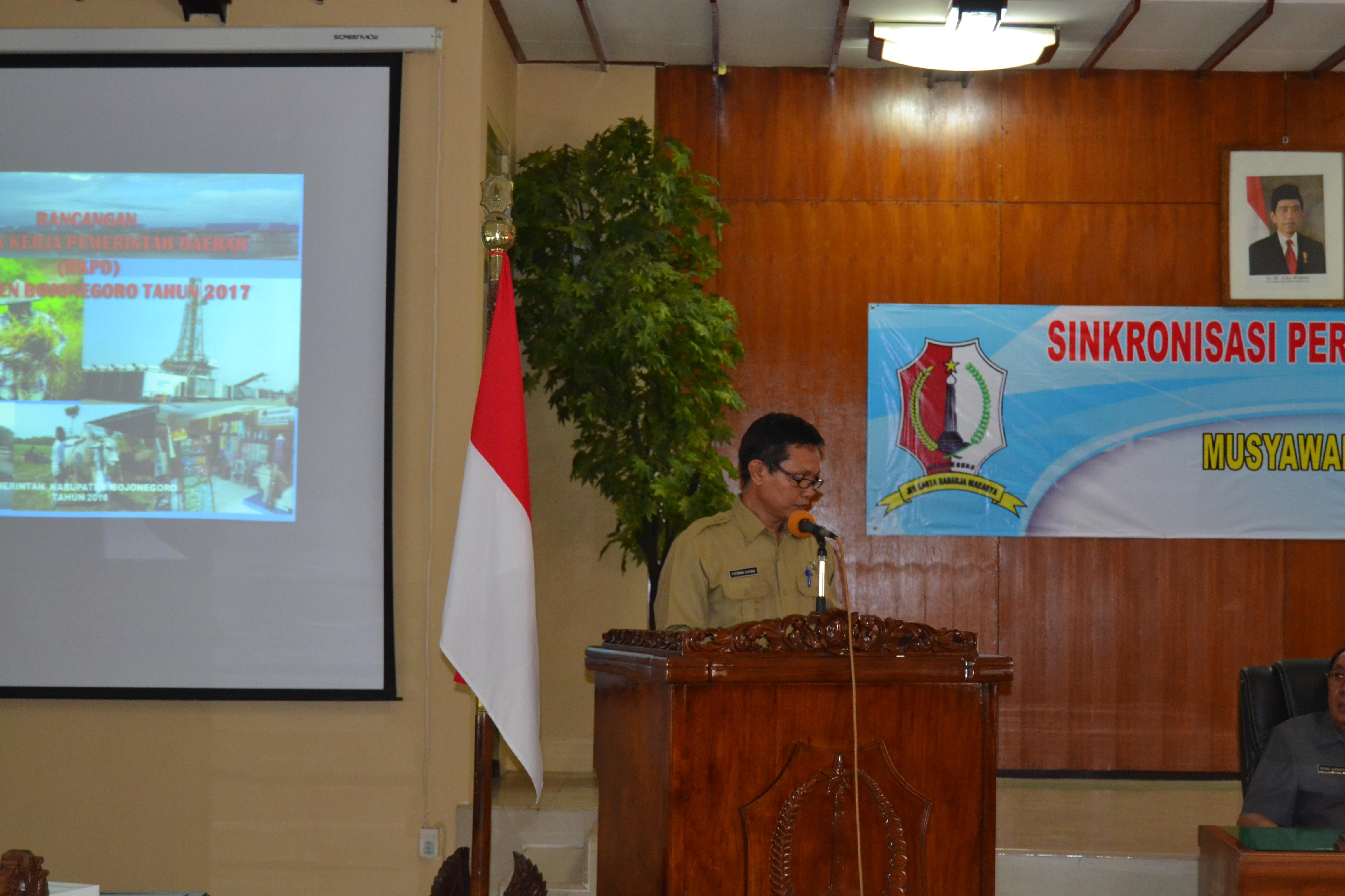 Kepala BAPPEDA Kabupaten Bojonegoro<BR>Sambutan saat Penyelenggaraan Musrenbang Kab.Bojonegoro Tahun 2016