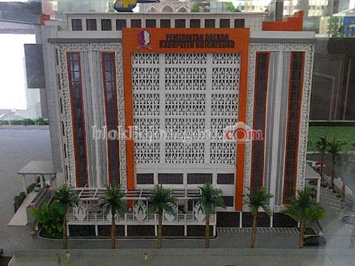 Gedung Pemerintah Daerah Kabupaten Bojonegoro<BR>Mewujudkan Wong Jonegoro yang Sehat, Produktif dan Bahagia